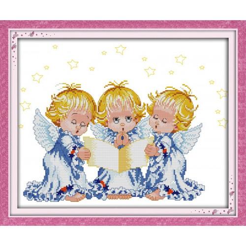 Modlące się aniołki