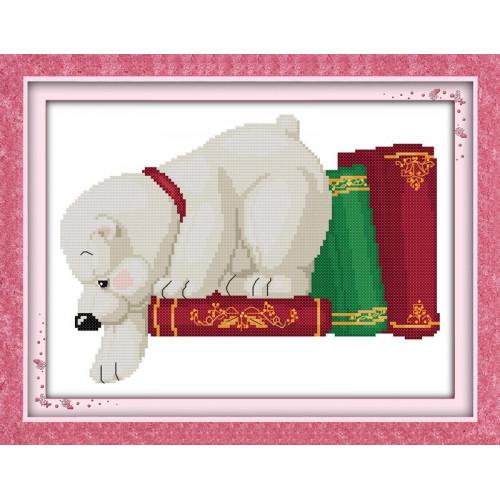 Rozkoszny mały biały pies (1)