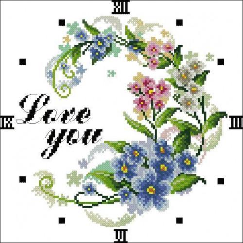 Pole kwiatów - zegar