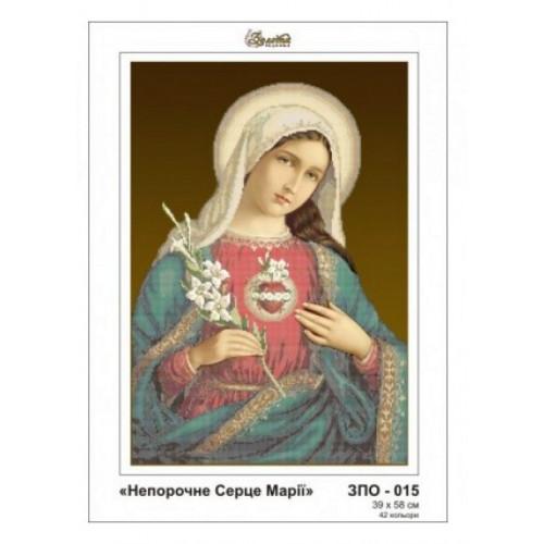 Niepokalane Serce Maryi wzór do haftu koralikowego