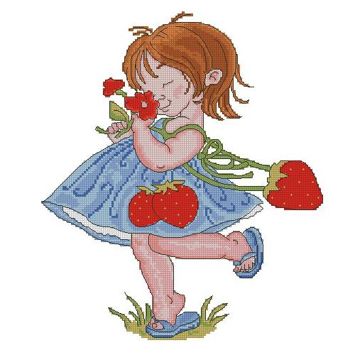 Dziewczyna z truskawką