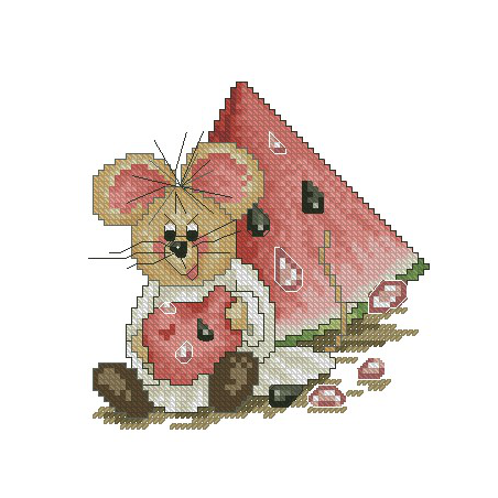Mysz z arbuzem