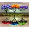 Zestaw do diamond painting - Kolorowe drzewa