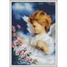 Zestaw do diamond painting - dziewczynka śliczny aniołeczek