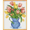 Zestaw do diamond painting - tulipany w wazonie