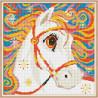 Zestaw do diamond painting - kolorowy konik