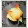 Zestaw do diamond painting - żółta róża