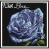 Zestaw do diamond painting - niebieska róża