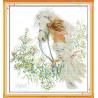 Zestaw do diamond painting - Biały koń i dziewczyna