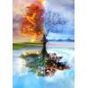 Zestaw do diamond painting - kolorowe drzewo