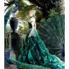 Zestaw do diamond painting - Kobieta z pawiem