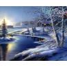 Zestaw do diamond painting - zimowy widok