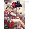 Zestaw do diamond painting - dziewczyna z motylem