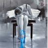 Zestaw do diamond painting - Baletnica niebieska
