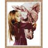 Zestaw do diamond painting - Dziewczynka z koniem