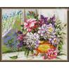 Zestaw do diamond painting -Kwiaty w oknie