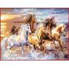 Zestaw do diamond painting - Piękne konie