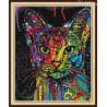 Zestaw do diamond painting - Kolorowy kot