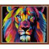 Zestaw do diamond painting - Kolorowy lew