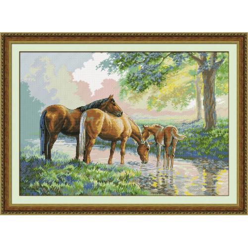 Konie nad rzeką