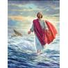 Zestaw do diamond painting - Jezus stąpający po wodzie