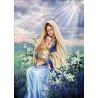 Zestaw do diamond painting -Maryja z dzieciatkiem na łące