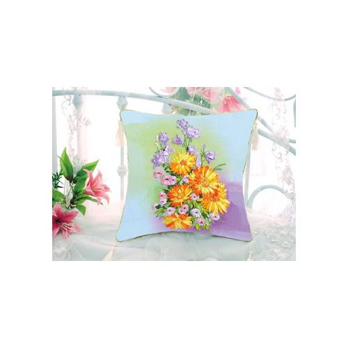 Poduszka kwiatowa żółta