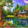 Zestaw do diamond painting -domek nad jeziorem