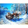 Zestaw do diamond painting -konie zimą