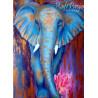Zestaw do diamond painting - słoń