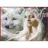 Zestaw do diamond painting -Dziewczyna z wilkiem