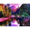 Zestaw do diamond painting - kolorowa jesień