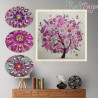 Zestaw do diamond painting shaped -  różowe drzewo