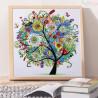 Zestaw do diamond painting shaped -  Kolorowe drzewko