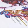 Zestaw do diamond painting shaped -  kobieta z motylami