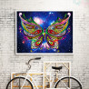 Zestaw do diamond painting shaped - świecący motyl