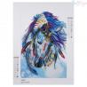 Zestaw do diamond painting shaped -cudowny kolorowy koń