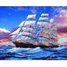 Zestaw do diamond painting - statek na morzu