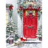 Zestaw do diamond painting - czerwone drzwi