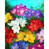 Zestaw do diamond painting - kolorowe kwiaty
