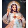 Zestaw do diamond painting - Serce Jezusa