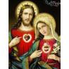 Zestaw do diamond painting - Serce Jezusa i Serce Mary