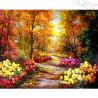 Malowanie po numerach - kolorwa jesień