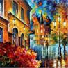 Malowanie po numerach - Jesień w mieście