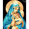 Malowanie po numerach - Maryja z dzieciątkiem