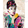 Malowanie po numerach - Audrey Hepburn
