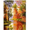 Zestaw do diamond painting - Jesień nad rzeką