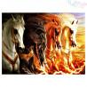 Zestaw do diamond painting - Dzikie konie