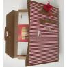 Kartka ręcznie robiona opakowanie na czekoladki merci