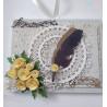 Kartka ręcznie robiona /opakowanie na czekoladki merci